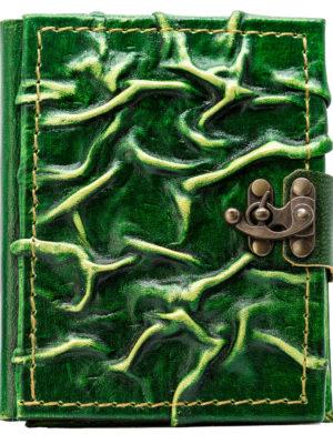 """Notizbuch klein """"Mittelalter Natur"""" grün"""