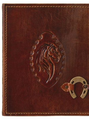 """Leder-Fotoalbum """"Pferd"""""""
