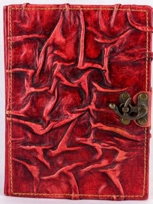 "Notizbuch groß ""Mittelalter Natur"" rot"