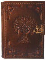 "Großes Tagebuch mit aufprägtem Motiv ""Yggdrasil"""
