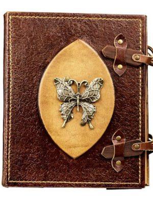 "Leder-Fotoalbum ""Schmetterling"""