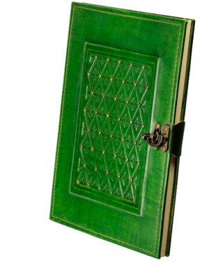 """Gästebuch """"Brokat"""" grün"""