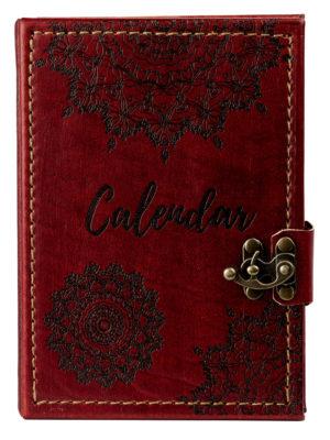 """Ringbuch Kalender """"Mandala Rot"""""""
