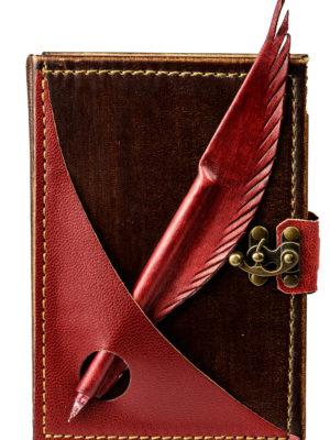 """Ringbuch Kalender """"Schreibfeder Rot"""""""