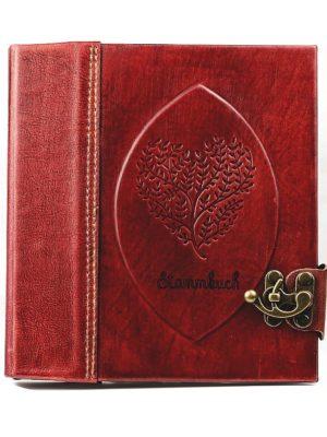 """Stammbuch """"Herz"""" rot"""