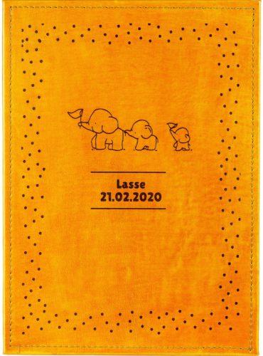 Babybuch mit Elefanten
